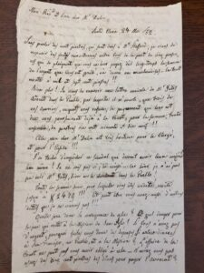 Draft of Letter by Father John Nobili